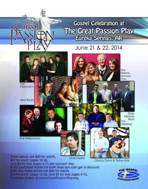 Outstanding Gospel Music on June 21 and 22, 2014